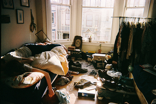 messy room