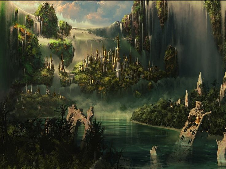 waterfalls landscapes fantasy art game thrones song ice series forests sky wallpaper wide Awesome 91 best Fantasy world images on Pinterest